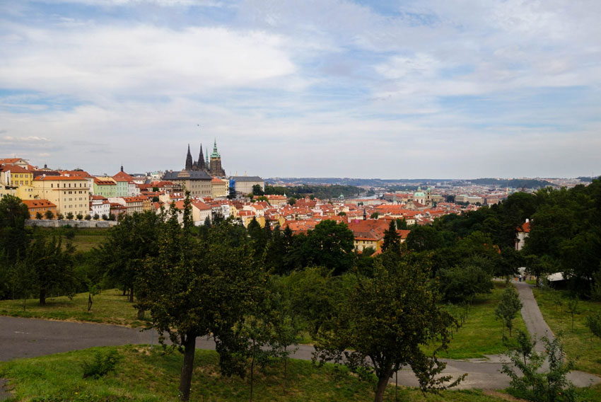 Prag Blick auf die Prager Burg