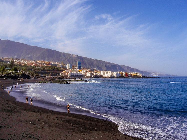 eizeziele Europa, Spanien, Kanaren, Teneriffa, Puerto de la Cruz, Playa de Jardin