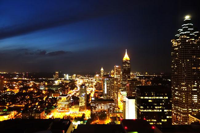 Down Town Atlanta at night
