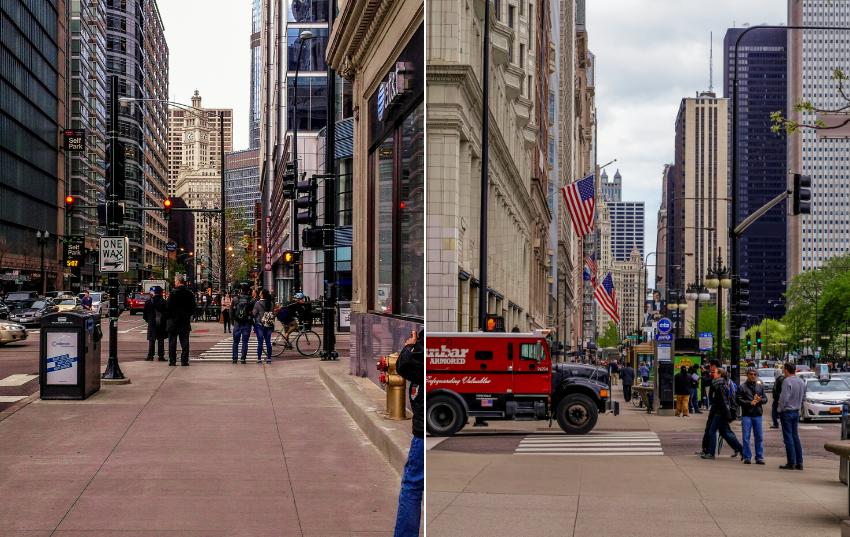 Roadtrip USA und Kanada - Chicago-Strassen