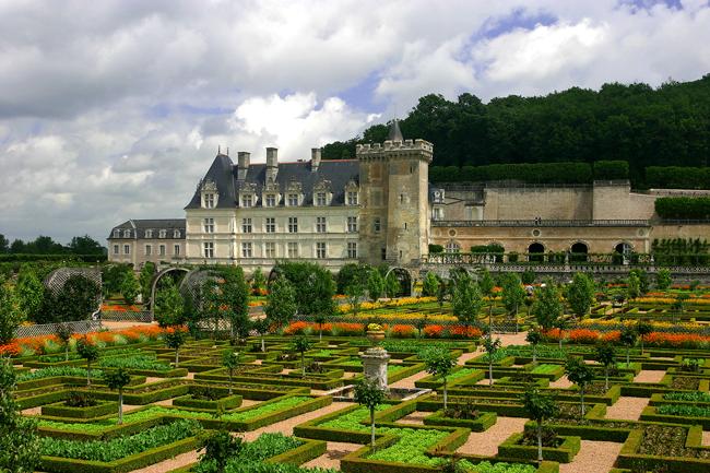 Schloss Villandry, Loire, Frankreich