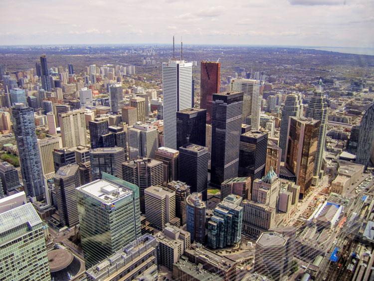 Roadtrip USA und Kanada - Blick vom CN Tower