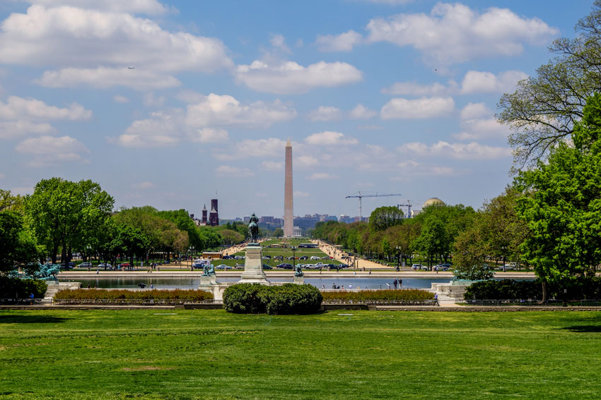 Washingthon D.C. - Blick vom Capitol zum Lincoln Memorial