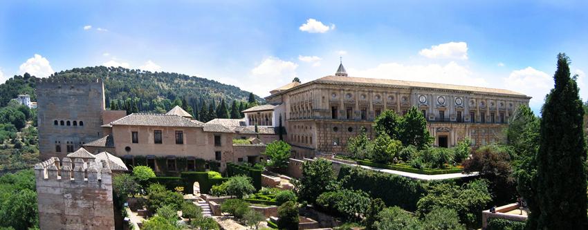 Panorama Ansicht der Alhambra