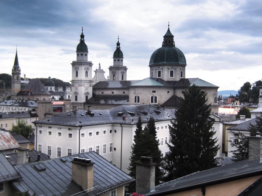 Salzburg Blick über die Stadt