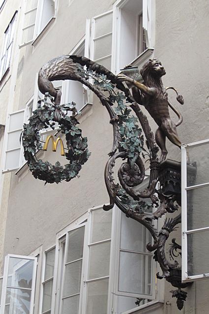 Salzburg Getreidegasse Schild