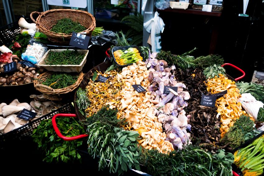 Gemüsestand auf dem Borough Market London