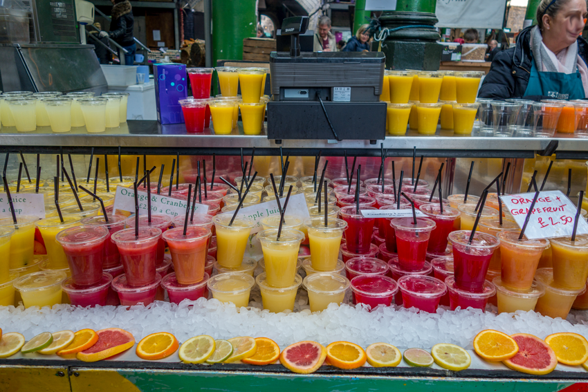 Saft auf dem Borough Market London