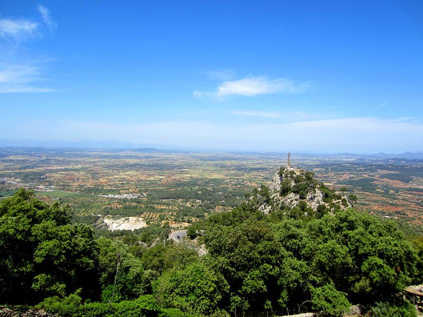 Mallorca, Blick vom Kloster Santuari de Sant-Salvador