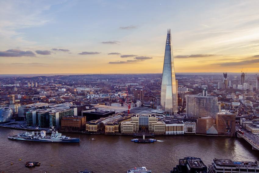 London, Skygarden, Blick von der Terrasse auf die Themse