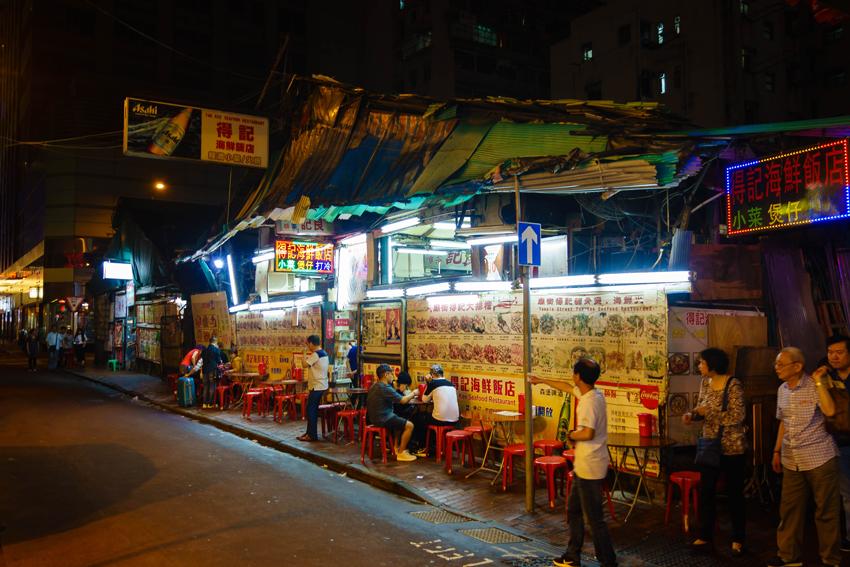 Hongkong - Straßenrestaurant