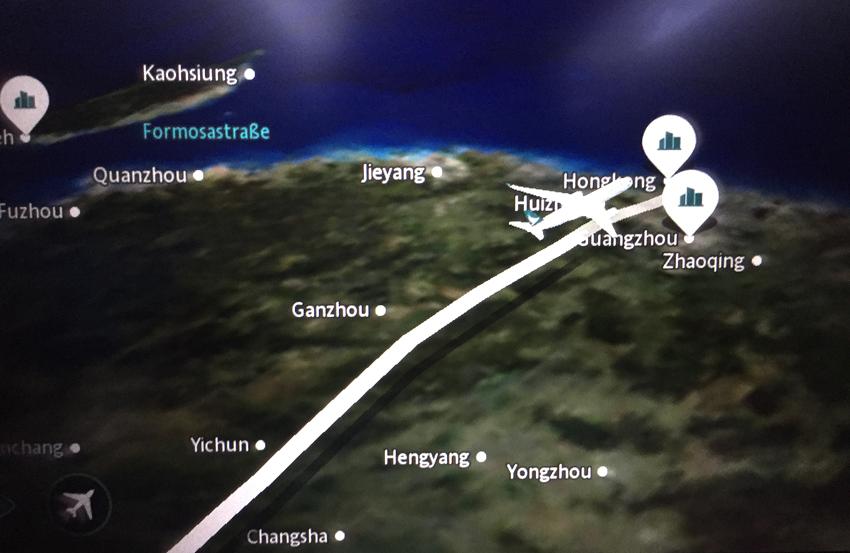 Hongkong - Flugverlauf