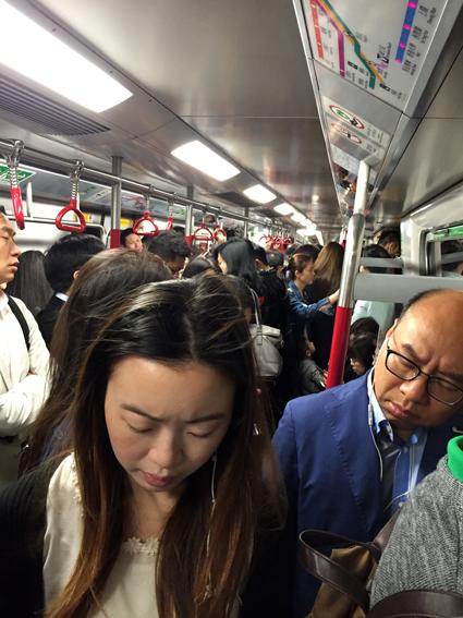 Hongkong - In der U-Bahn