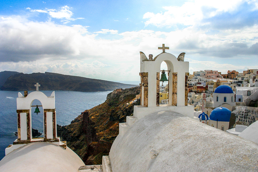 Santorin - Klassischer Blick in Oia