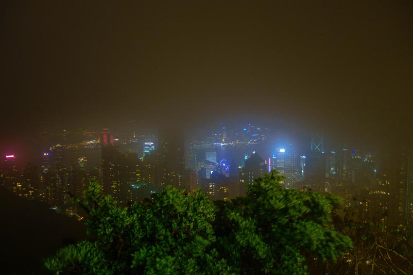 Hongkong - Blick vom Peak am Abend