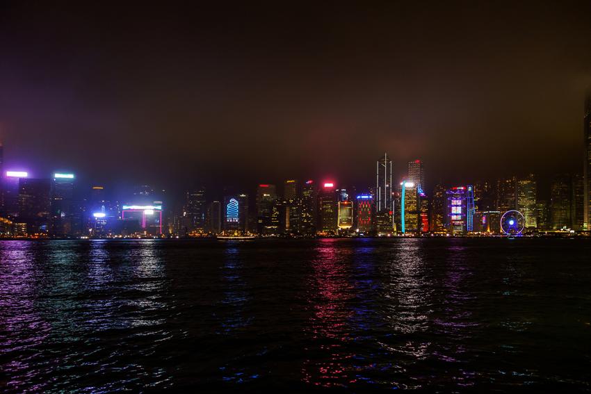 Hongkong - Skyline Hongkong Island bei Nacht