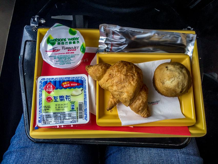 Macau - Snack auf der Fähre