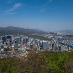 Seoul - Blick über die Stadt vom Berg Namsam