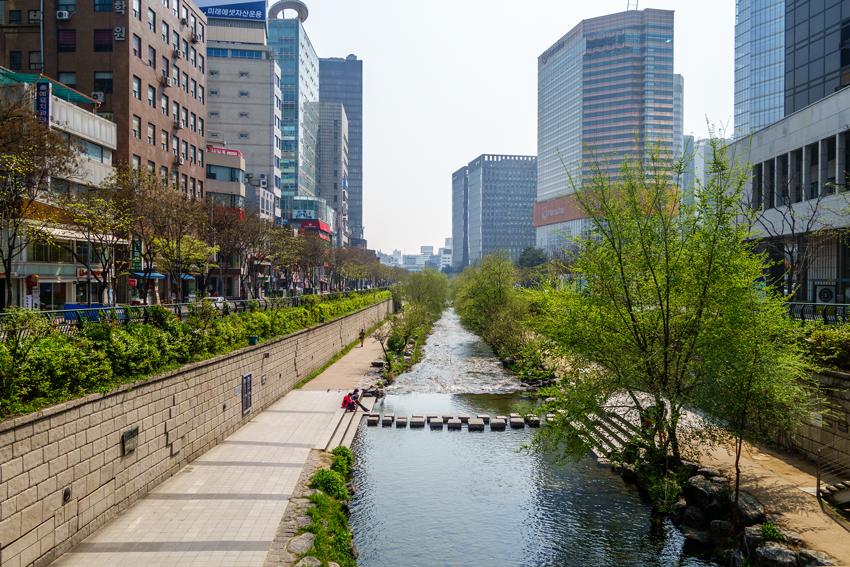 Seoul - Cheonggyecheon Fluss