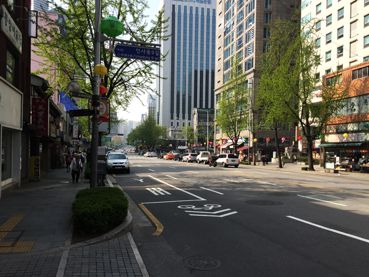 Seoul - Straße in  Insadong