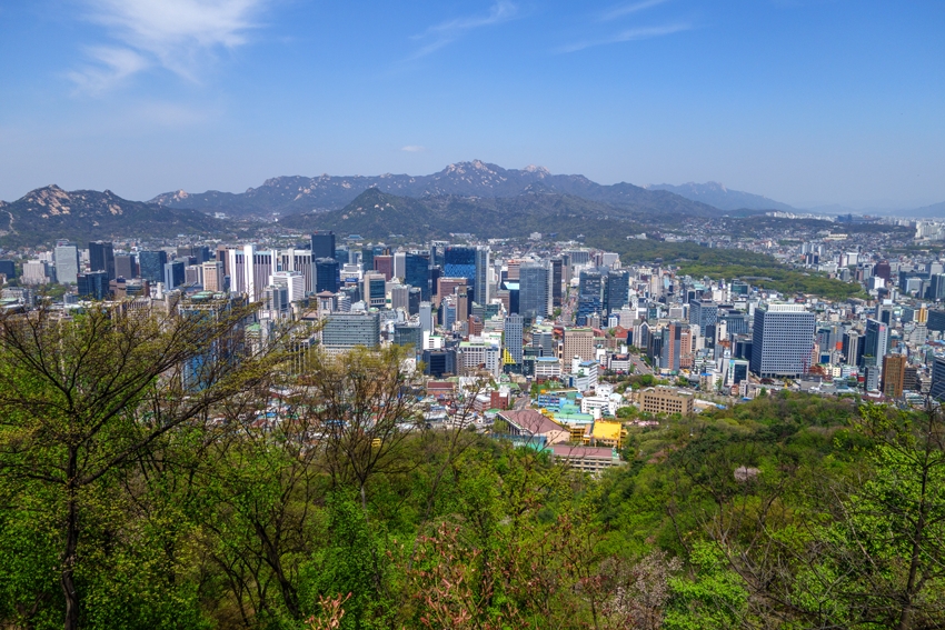 Reisen nach Seoul - Ausblick über Seoul