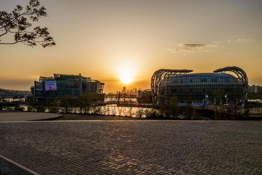 Reisen nach Seoul - Sonnenuntergang am Han Fluss