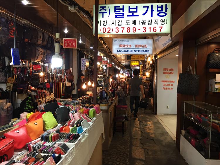 Reisen nach Seoul - Markt