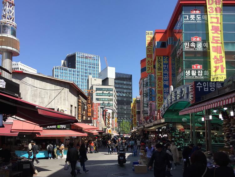 Reisen nach Seoul - Einkaufsstrasse Seoul