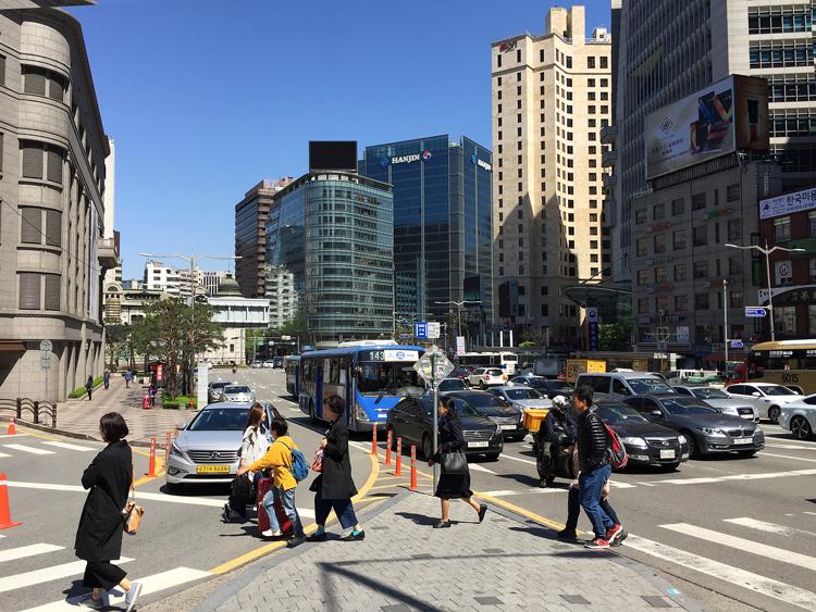 Reisen nach Seoul - Strassen von Seoul