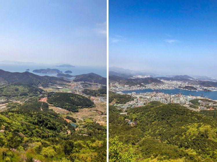 Tongyeong, Mireuk-san Ausblick vom Gipfel