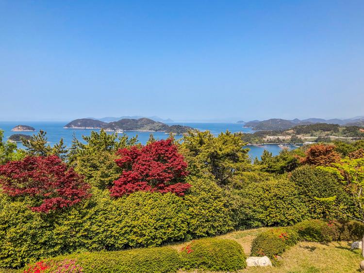 Tongyeong Südkorea Aussichtspunkt im Hallyeohaesang-Nationalpark