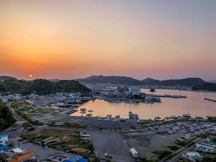 Sonnenuntergang in Tongyeong