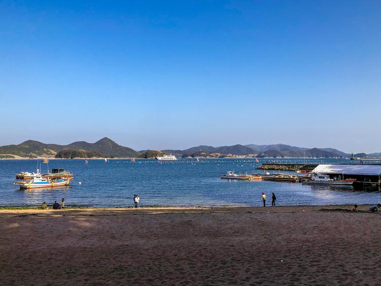 Tongyeong Südkorea Blick auf das gelbe Meer
